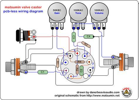 a diy valve overdrive pedal goldie guitar amp guitars and circuits rh pinterest com guitar amplifier wiring diagrams Electric Guitar Amps