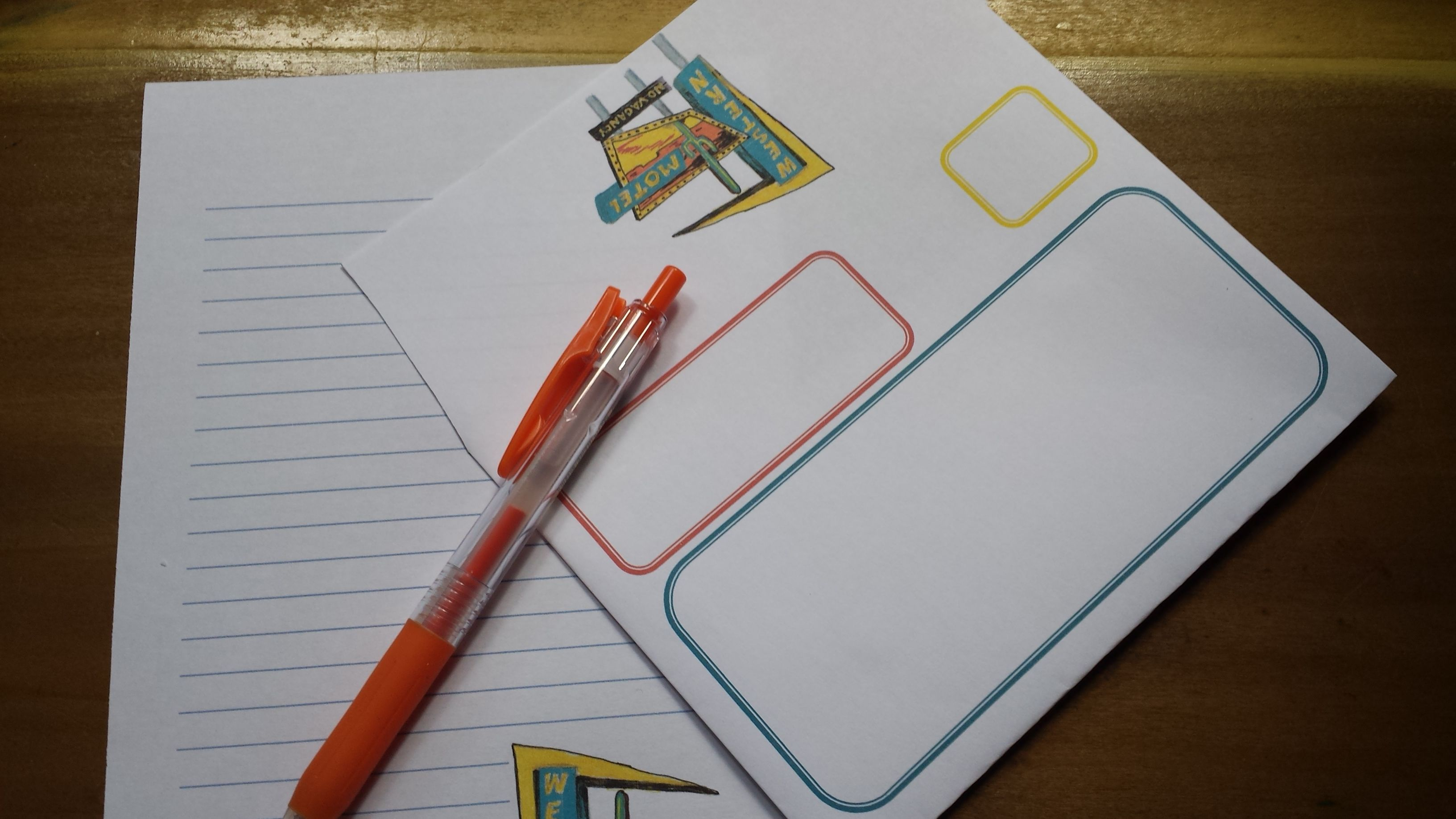 downloadable stationery to print again and again needs no storage