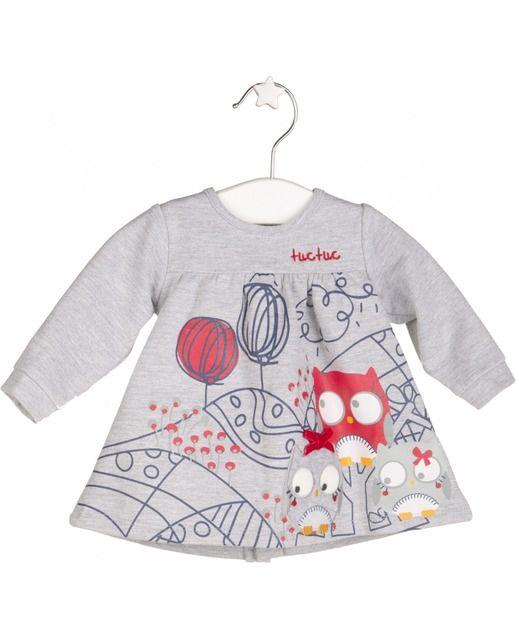 5421e7194 Vestido de bebé niña Tuc tuc de felpa con manga larga | vestidos niña