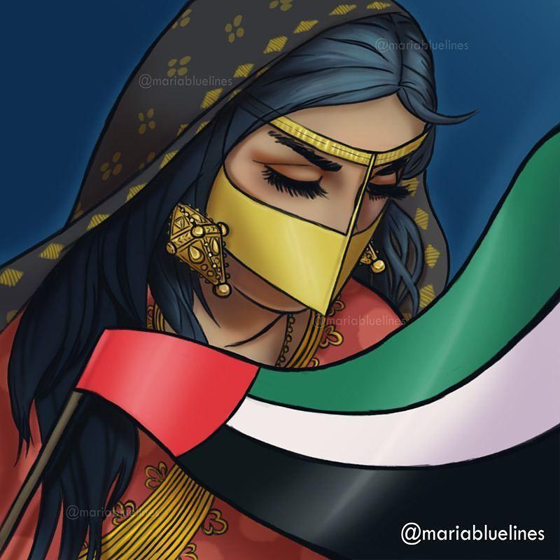 110 Likes 10 Comments Illustrator Designer Amp Artist Mariabluelines On Instagram Dreaming Of Home Uae National Day Kuwait National Day National Day