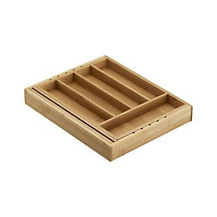 Expandable Bamboo Gadget Tray Reviews Crate And Barrel Bamboo Flatware Cutlery Tray Utensil Trays