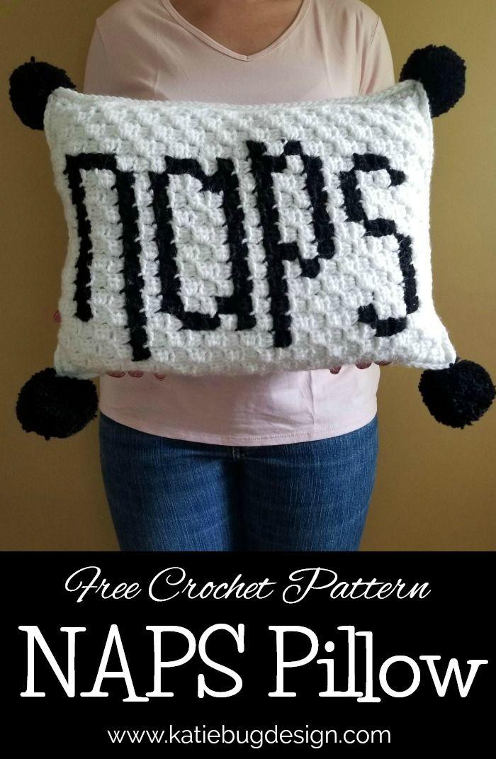 Naps Pillow - Free c2c Pattern | crochet | Pinterest | Häkeln