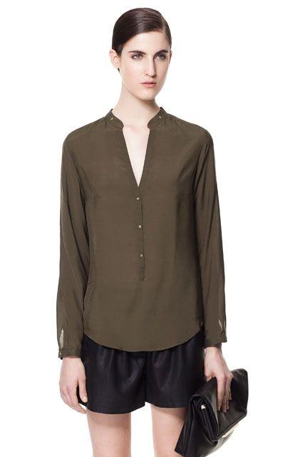MAO COLLAR SHIRT - Shirts - Woman - ZARA United States