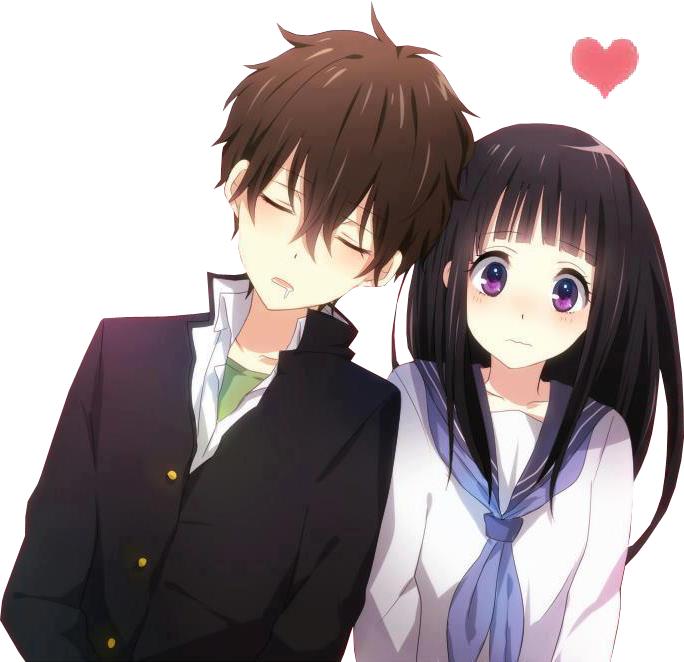 Hyouka oreki houtarou x chitanda eru anime and manga - Image manga couple ...