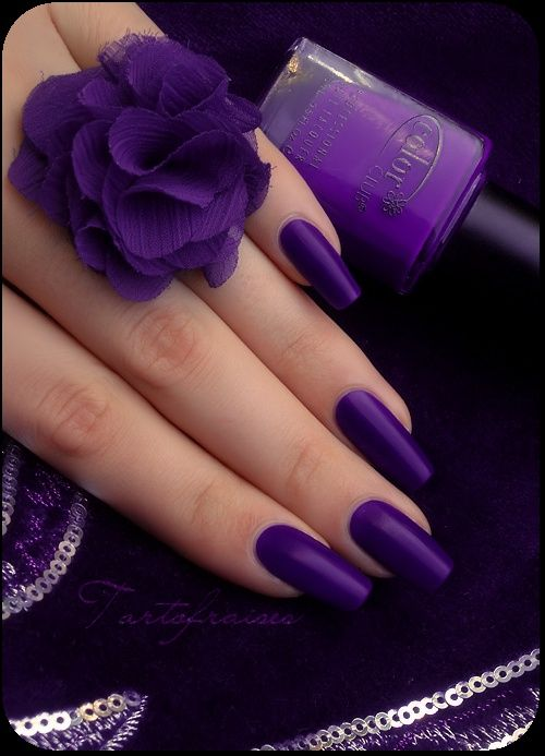 60 Simple Matte Nail art Designs for Beginners | Purple nail, Matte ...