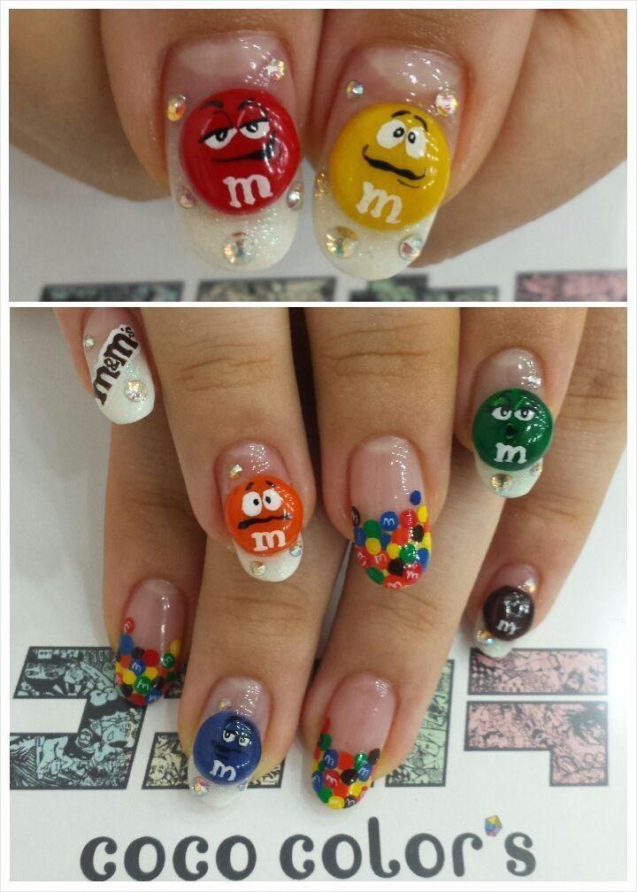 Image Via Cartoon Nail Art Designs Nails Pinterest Nagel