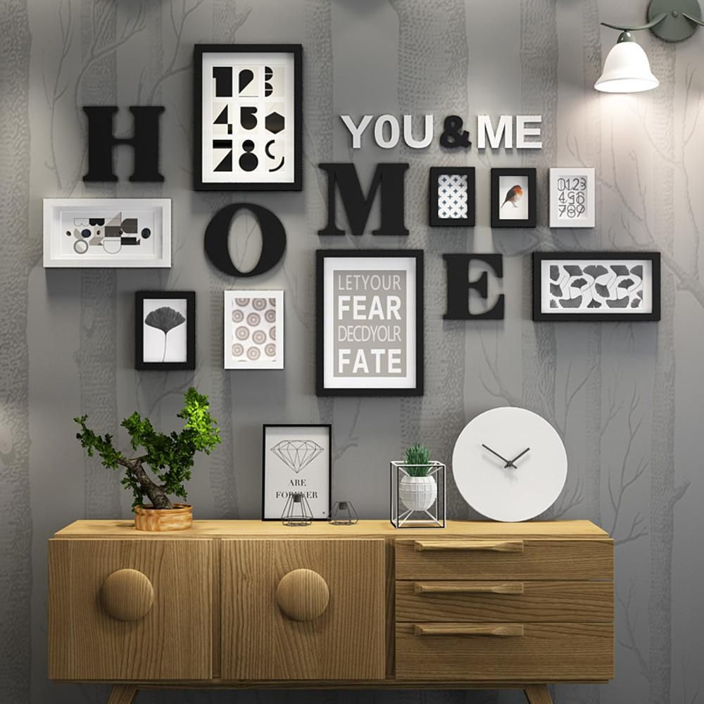 Solid Wood Large Picture Frames Modern Living Room Painting Photo ...