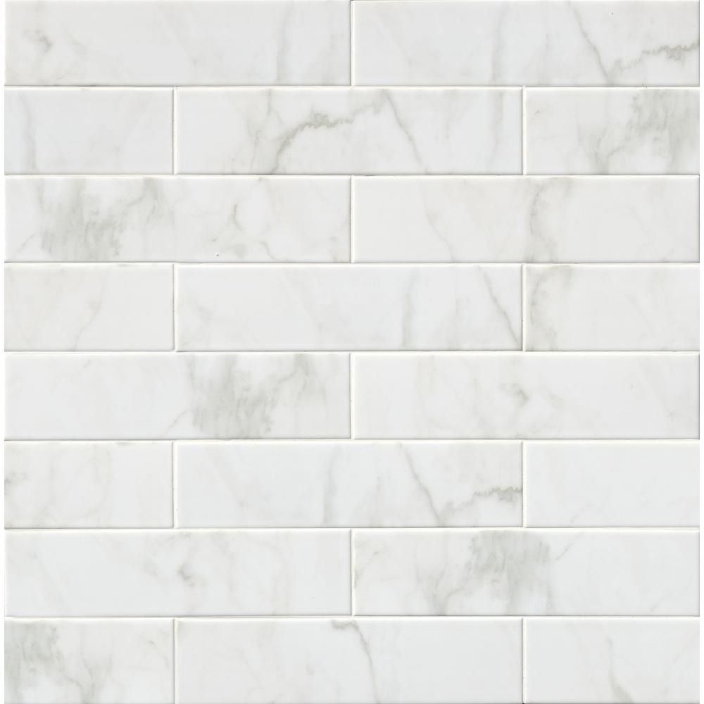 Home Pictures Calacatta White Glazed Porcelain Used On The Floor
