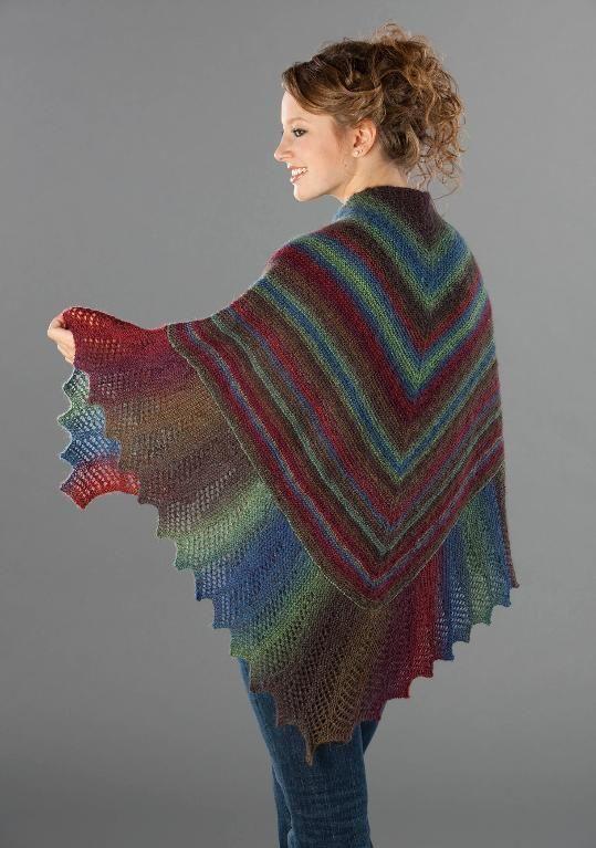 Top 15 Free Shawl Knitting Patterns Knittingworld Pinterest