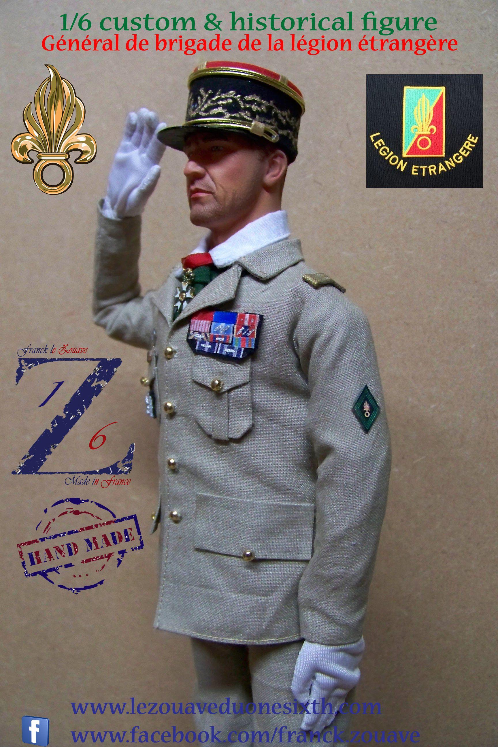 Figurine à l'échelle 1/6 représentant un général de brigade de la légion étrangère