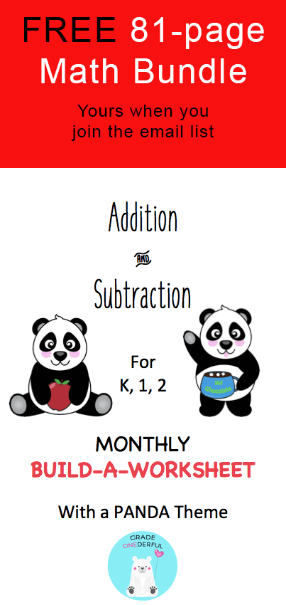 FREEBIE: Big Math Bundle for K-2 | Email list, Math and Math resources
