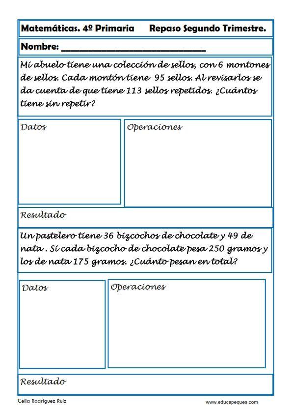 Ejercicios Matemáticas Primaria | Pinterest | Ejercicios matematicas ...