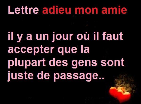 Lettre Adieu Mon Amie Lettre Triste Pour Dire A Votre Amis