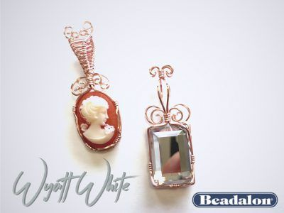 Live from beadalon wire wrapped cabochon pendants with wyatt white live from beadalon wire wrapped cabochon pendants with wyatt white aloadofball Choice Image