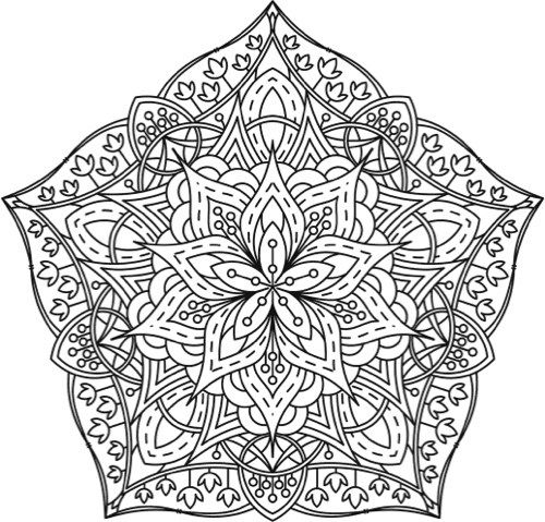 Mandala Coloring Page From Adult Book Designs