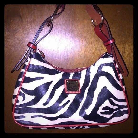 Dooney & Bourke Zebra Print Excellent condition, no wear, stains, etc trade value 150 Dooney & Bourke Bags