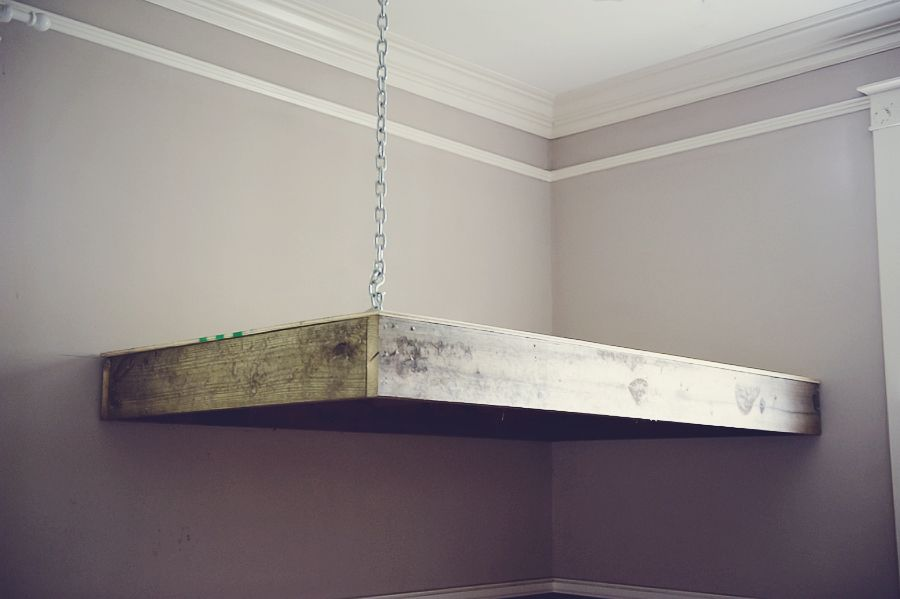 Instructions for building a loft bed attached to the wall for Hanging bed construction
