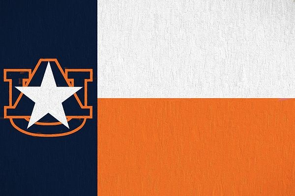 For The Auburn University Alumni And Fans Living In Texas Or From The Great State Of Tx We Have The Auburn University Texas Flag Auburn Auburn University Texas