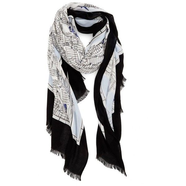 Womens kate spade new york new york map print scarf 118 womens kate spade new york new york map print scarf 118 liked on sciox Image collections