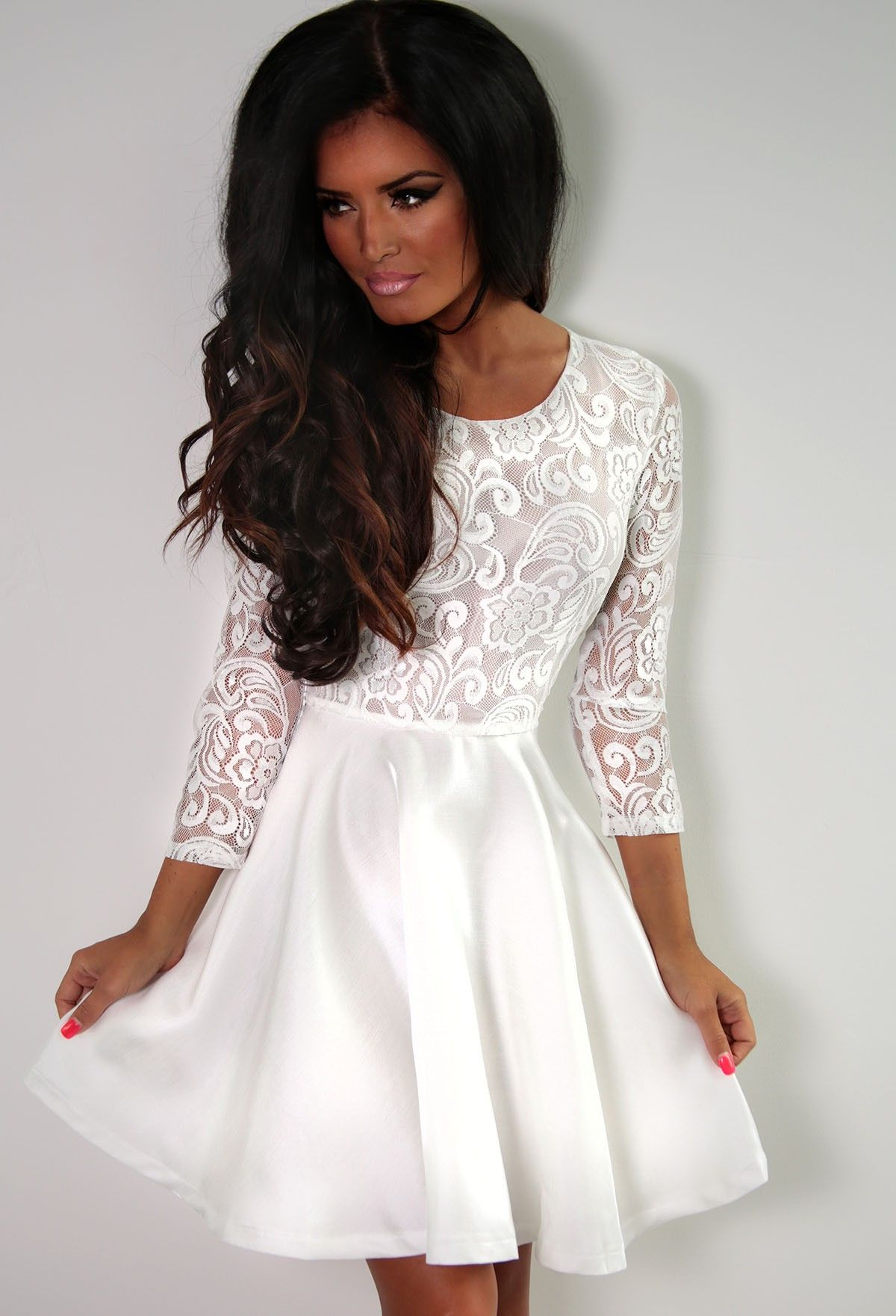 long-sleeve-lace-dress- | Long Sleeve Dresses | Pinterest | Lace ...