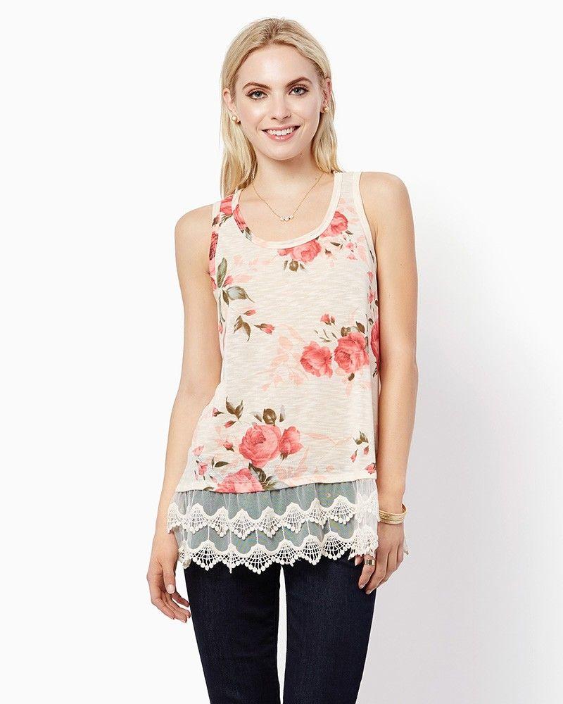 charming charlie   Grace Floral Tank   UPC: 3000760623 #charmingcharlie
