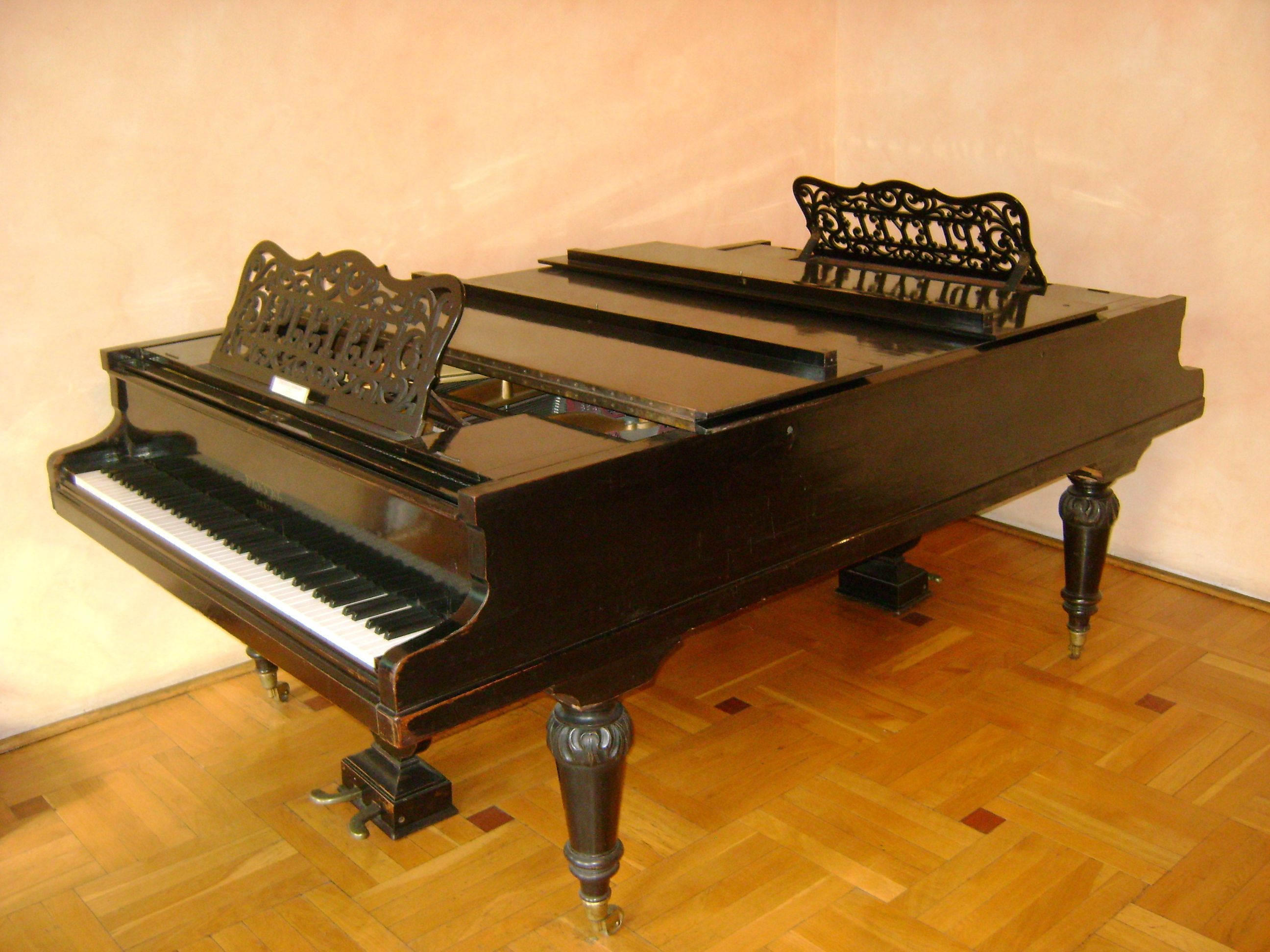 Extraordinary Pleyel double piano with a keyboard at ...