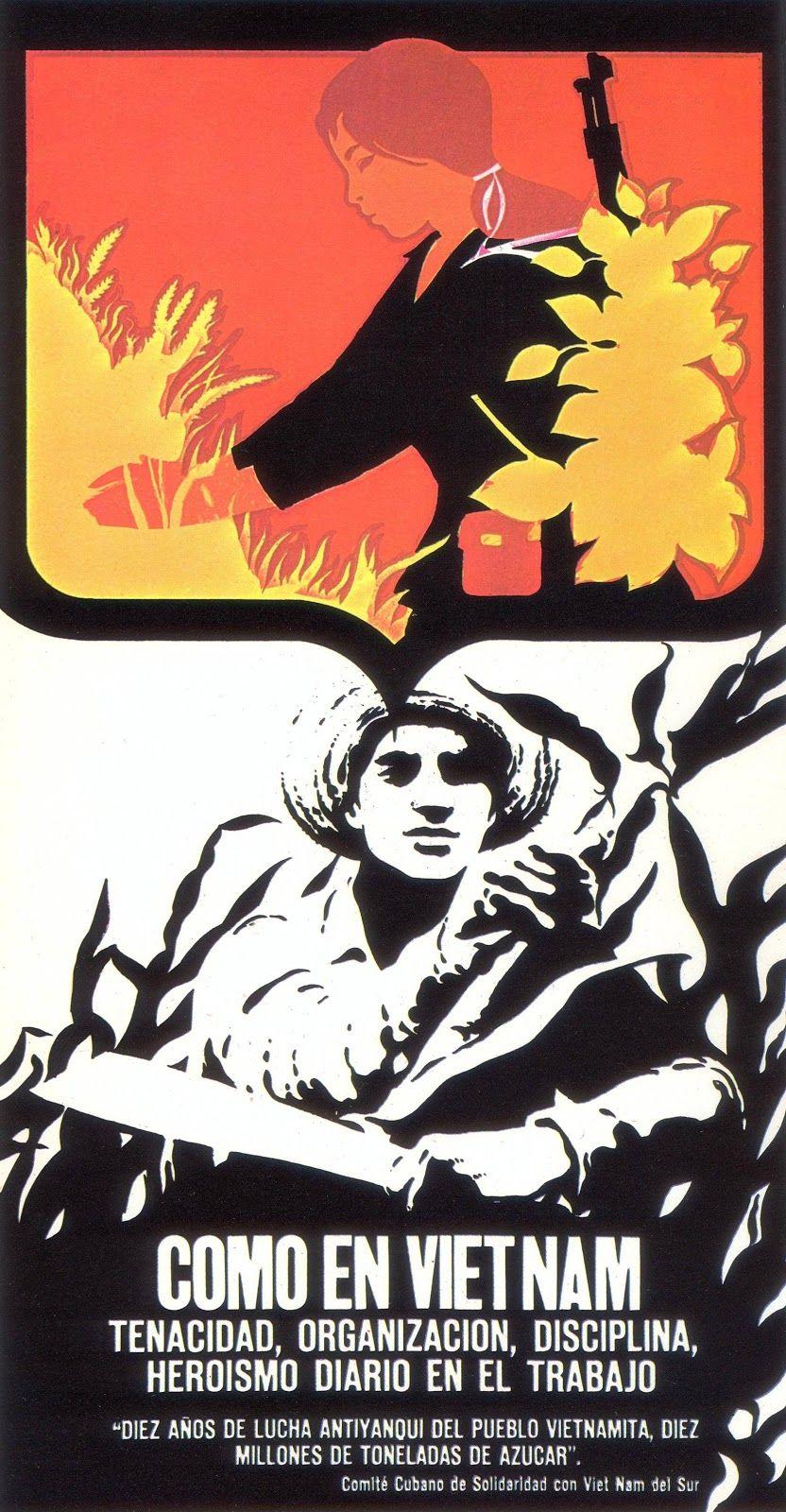 Propaganda poster from Cuba during Vietnam war | War, The ...
