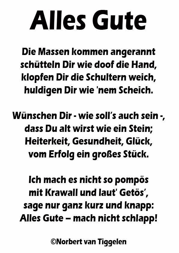 Viel Glück Zum Geburtstag Geburtstag Gedicht Sprüche