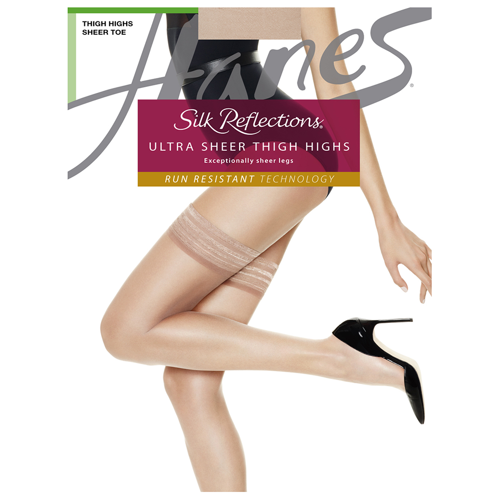 Silk Reflections Ultra Sheer Thigh Highs With Run Resistant Technology
