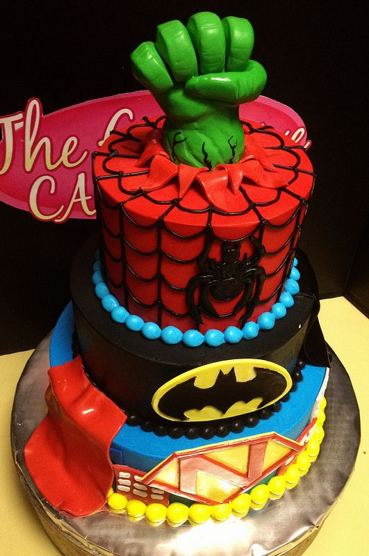 Super Heroes Avengers Cake Party Ideas For Kids By Aniria R
