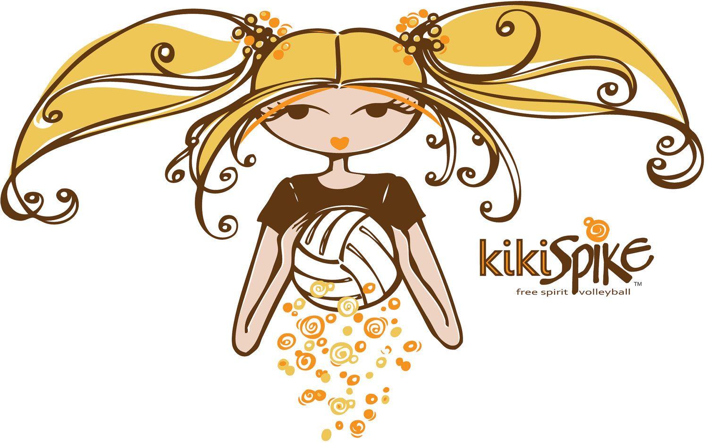Kiki Spike Scoop Neck Fashion Volleyball Tee
