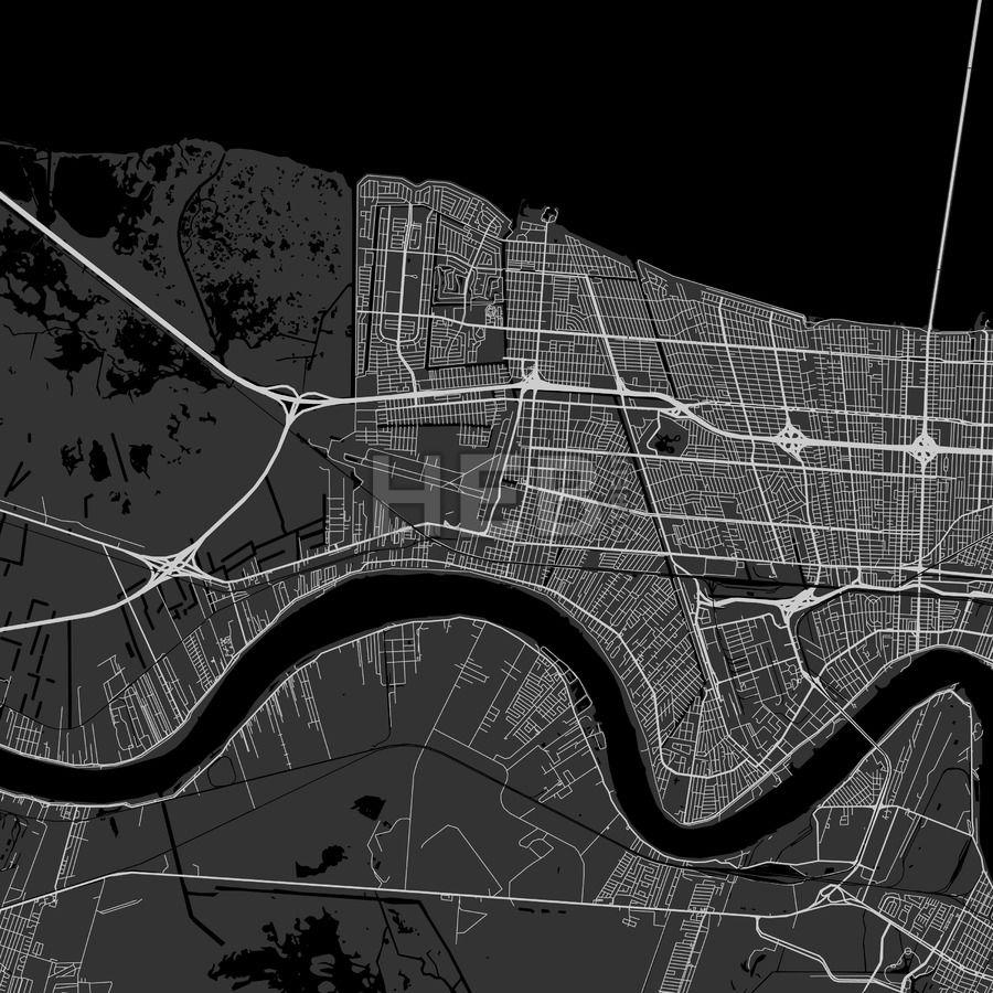 Kenner Louisiana Area Map Dark Kenner louisiana and Ui ux