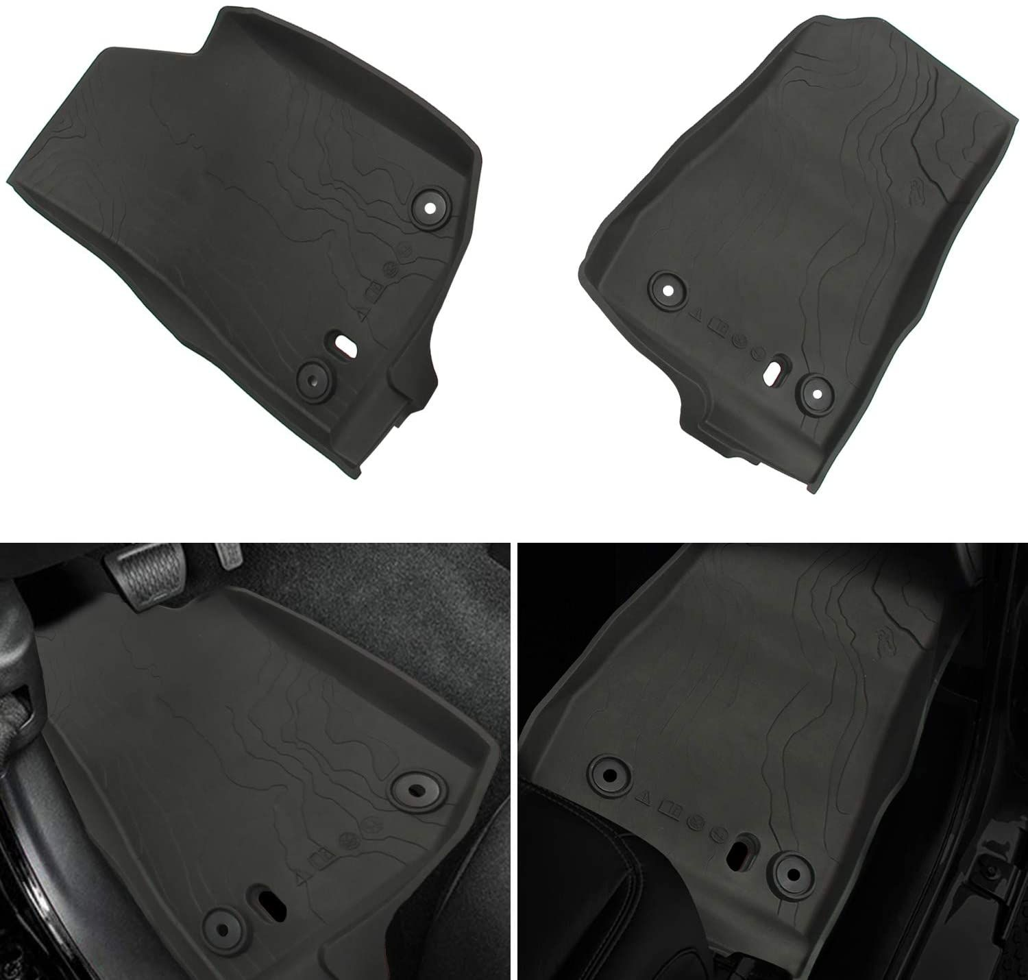 All Weather Slush Floor Mats For Jeep Jl In 2020 Floor Mats Jeep Floor Liners