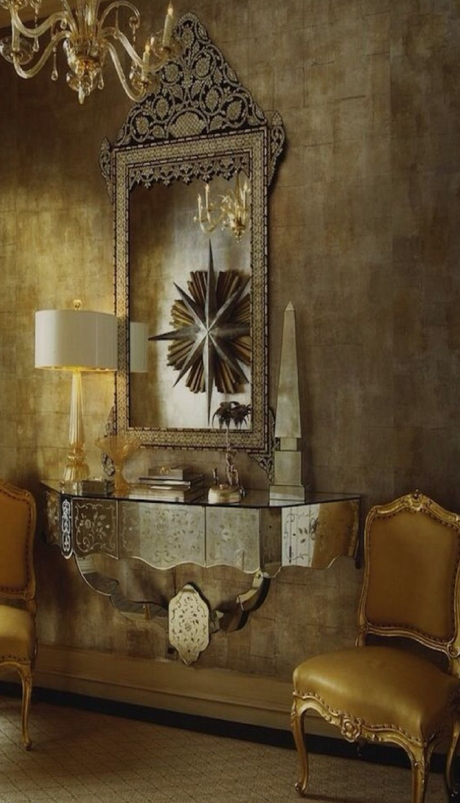 hotel interiors gold accents