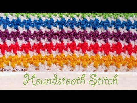 Learn To Crochet Houndstooth Stitch Ideal For Blankets ...