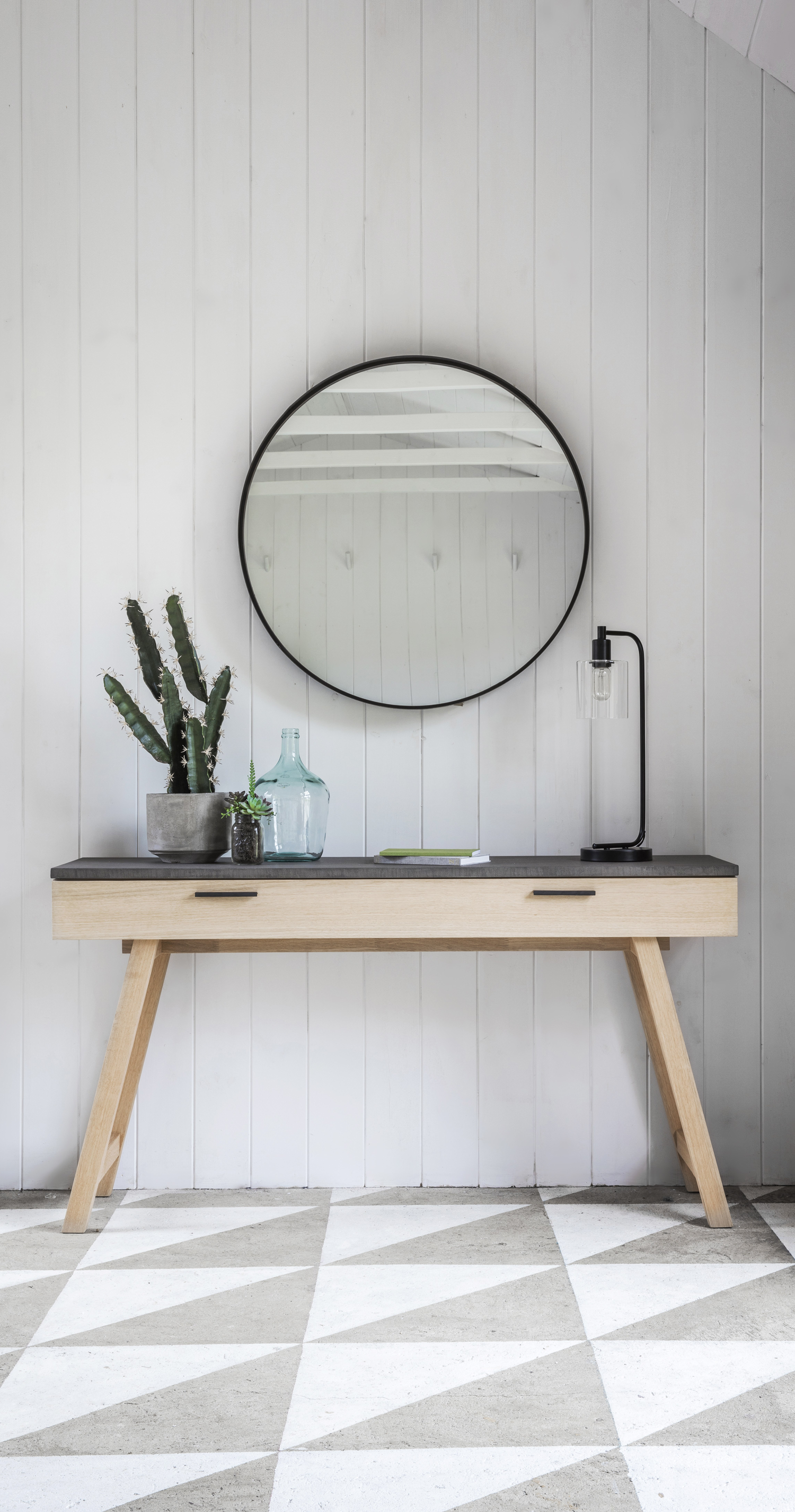 Wood console table with concrete finish lovelimelace limelace