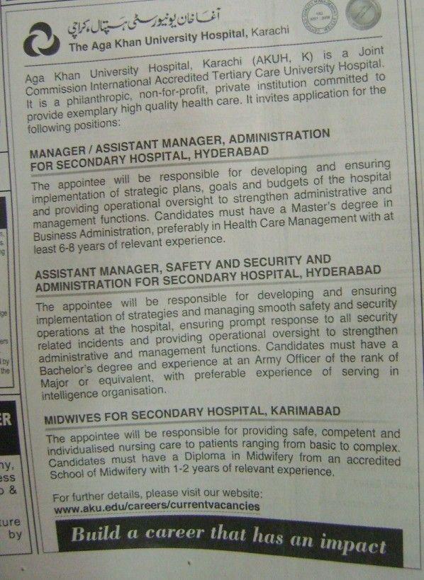 Aga Khan University Hospital, Karachi (AKUH, K) is a Joint