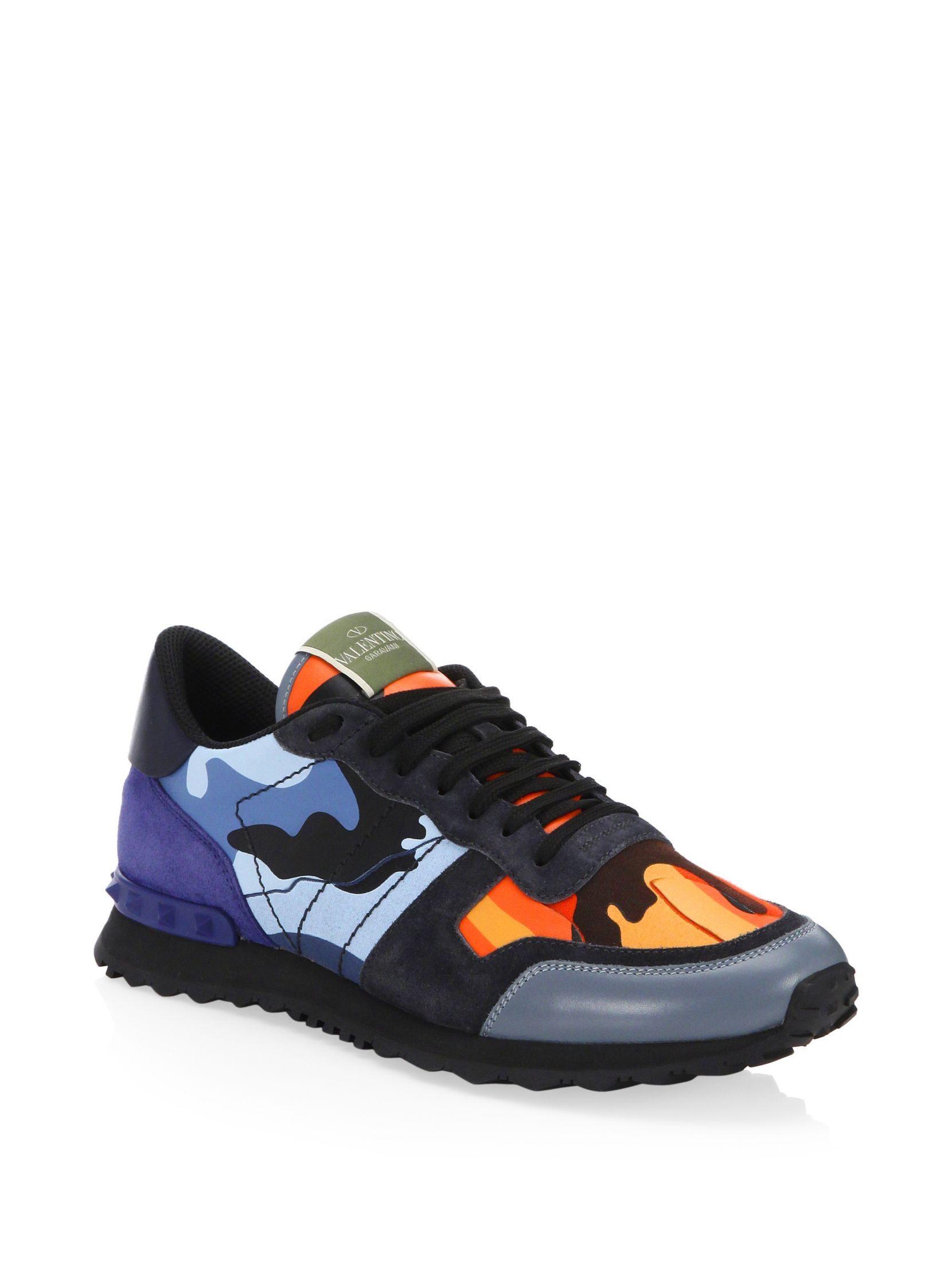 b95ced206c12 Valentino Garavani Rockrunner Multicolor Camouflage Sneakers   Shoes ...