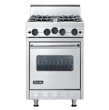 Viking 24 Inch Pro Style Gas Range Convection Oven Broiler Model Vgic2454bx