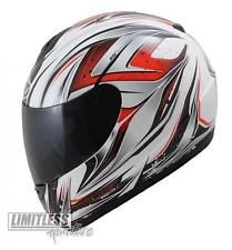 MT Roadster II Full Face Helmet - Motorcycle Motorbike Scooter Crash Visor Red