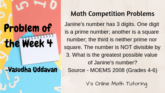 Math Competition Problems - Problem of the week - 4 | Elementary