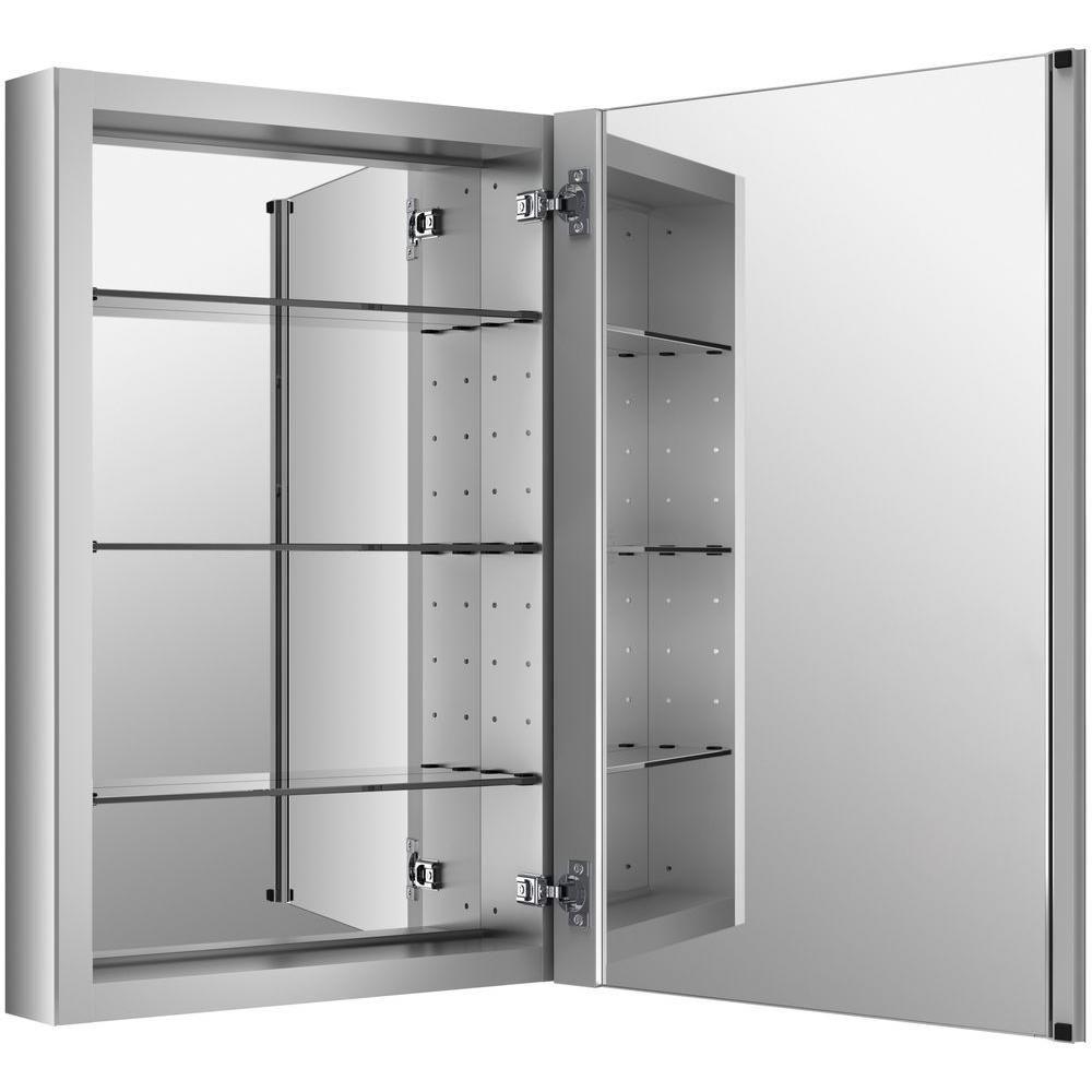John S Kohler Verdera 30 In X 20 Recessed Medicine Cabinet Anodized Aluminum