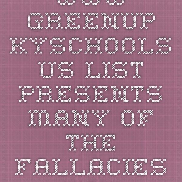 www.greenup.kyschools.us   List presents many of the fallacies you find in arguments