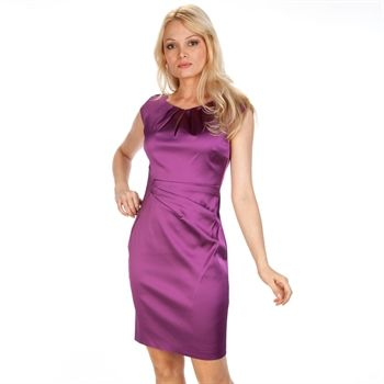 b69f76d96 Kay Unger New York Cap Sleeve Satin Sheath Dress | from Von Maur #VonMaur #