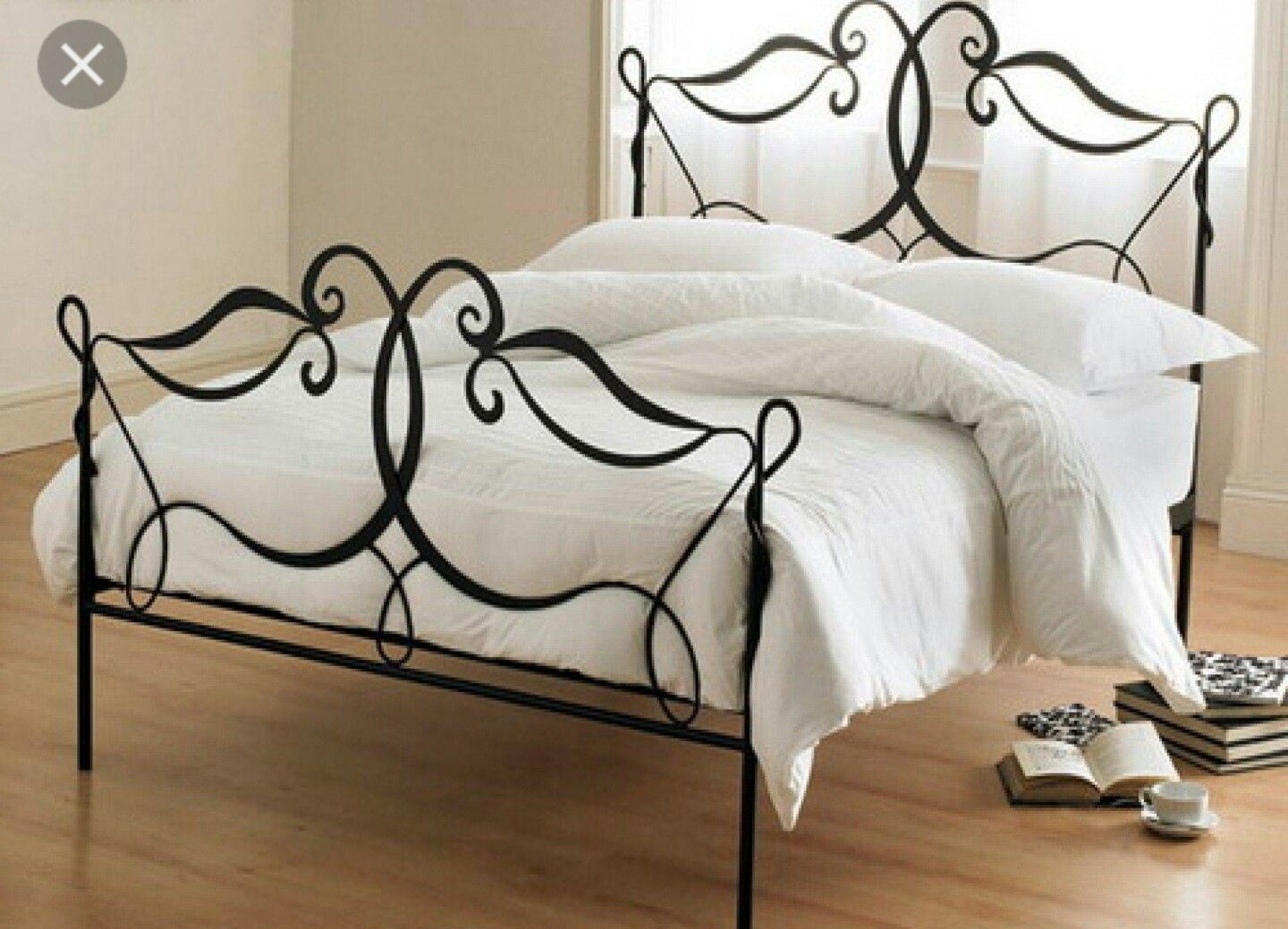 Best Wrought Iron Bed Frame Vintage Queen Ikea Black Antique 400 x 300