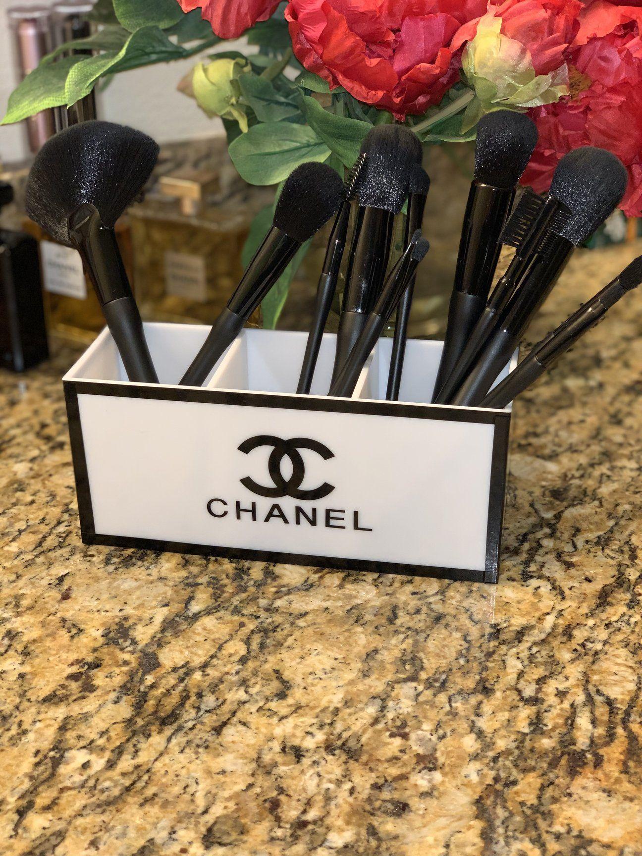 Chanel Makeup Brush Holder White Ceramic Giant Shoe