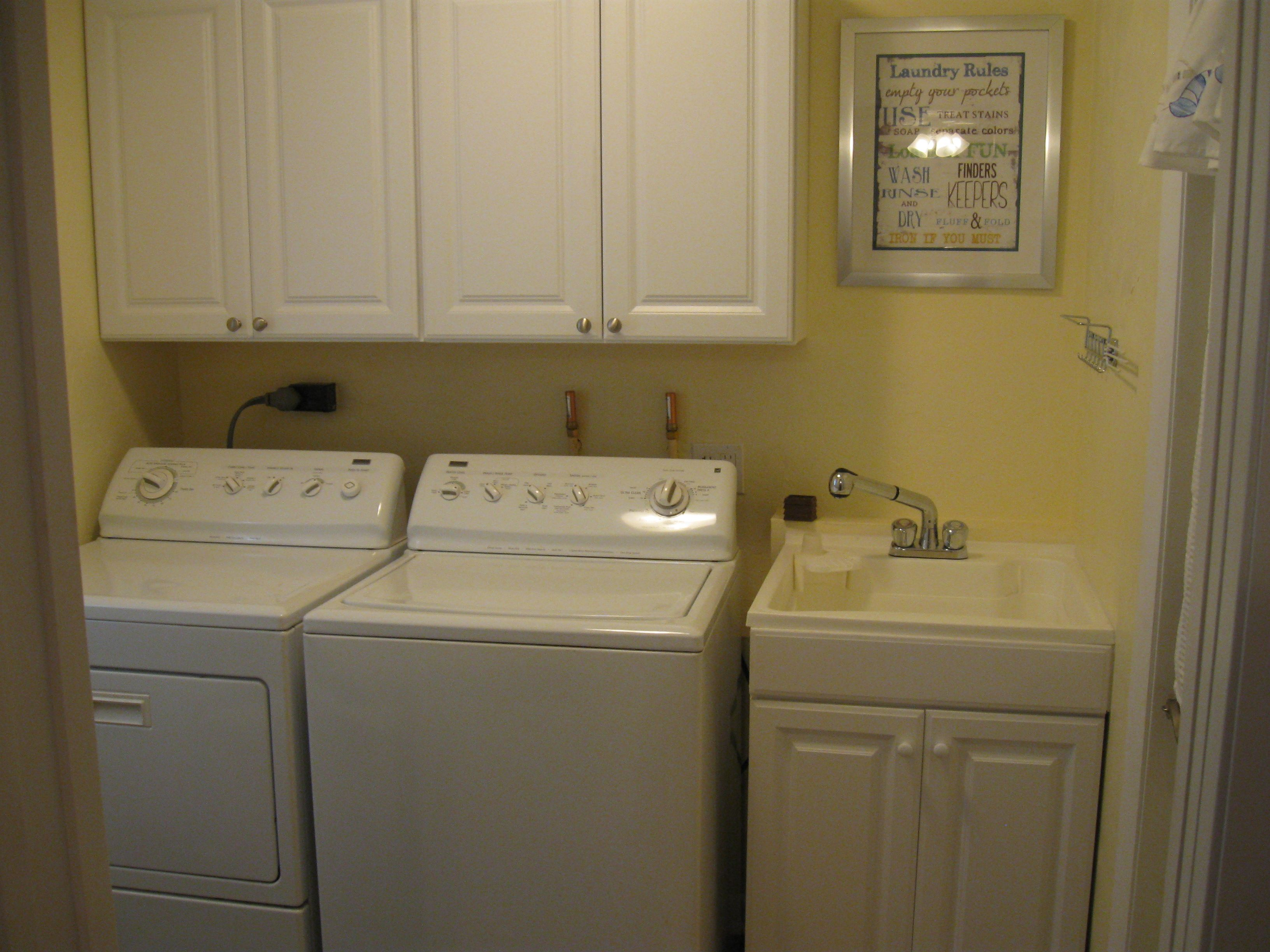 our re done small laundry area still looking for