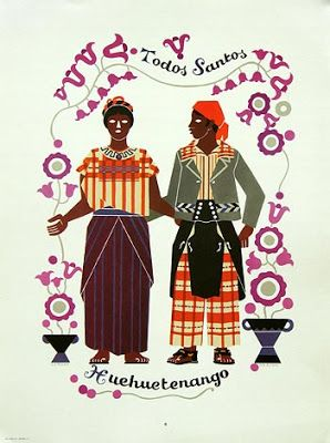 Trajes For Men And Women From Todos Santos Guatemala Are Shown In This Print By Artist Carlos Merida The Man Is Wearing A Shirt Like That