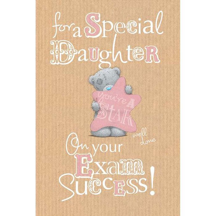 Daughter Exam Congratulations Me to You Bear Card £249 good - exam best wishes cards