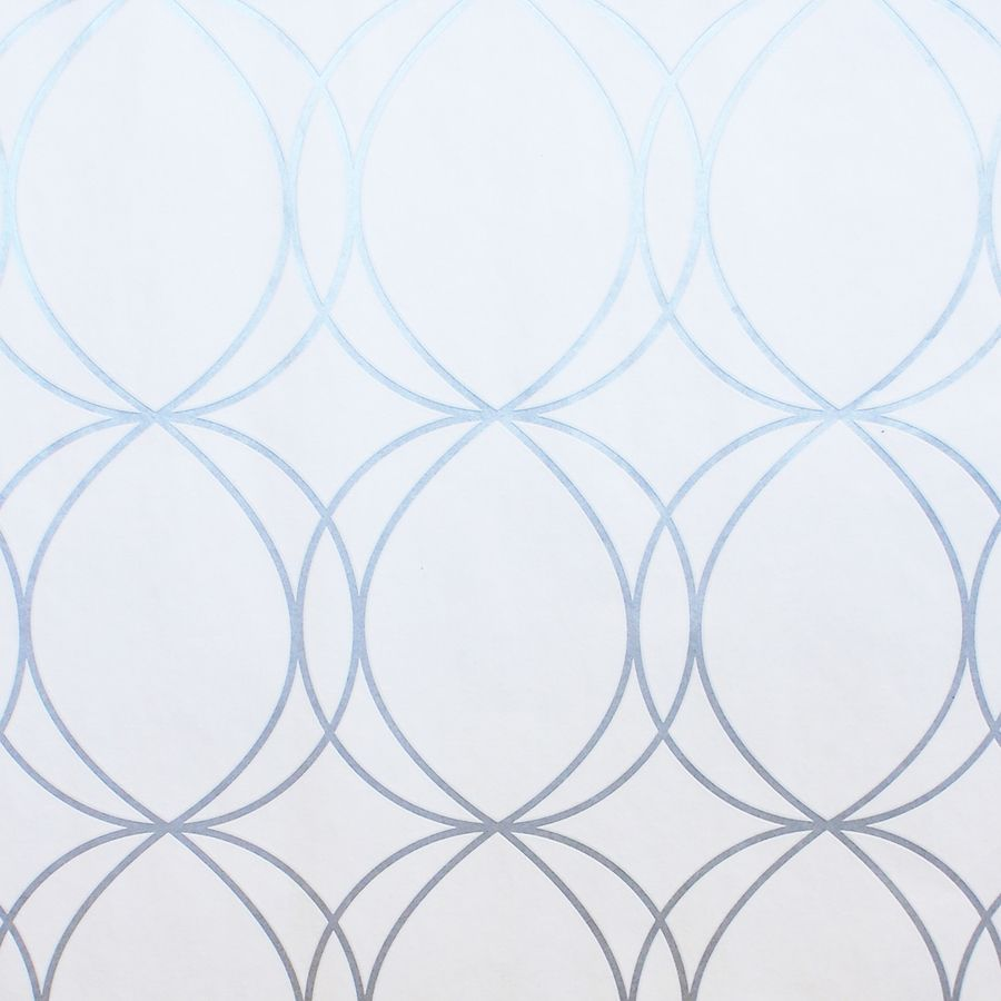 Allen Roth White Silver Vinyl Geometric Wallpaper Paper Above